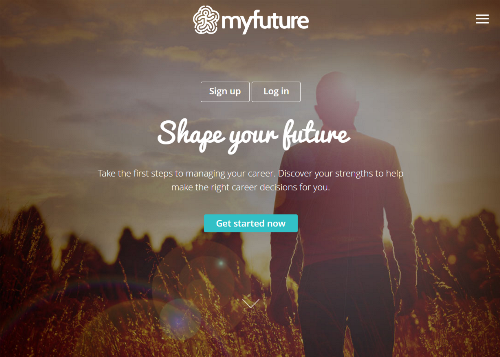 Myfuture homepage